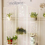 两室一厅韩式简约风格阳台白色精致花架图