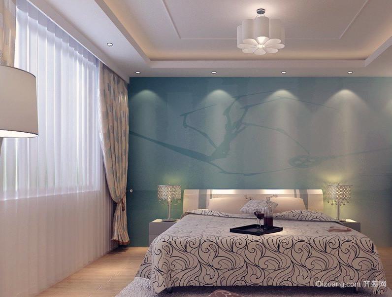 精美独特的欧式大户型卧室背景墙装修效果图