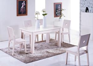 大户型北欧清新白色系餐桌椅装修效果图
