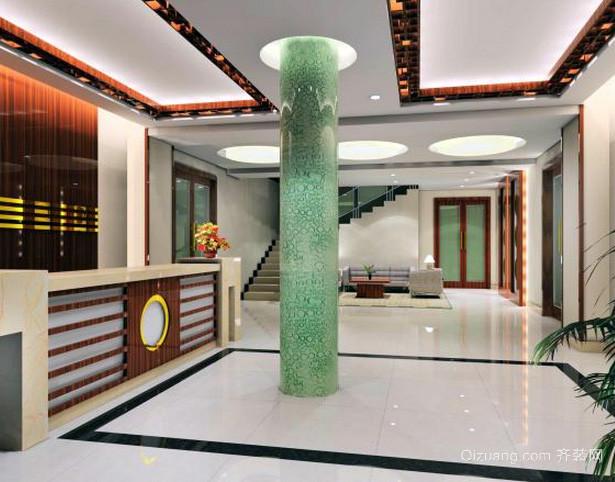 180平米中式风格宾馆大厅装修效果图