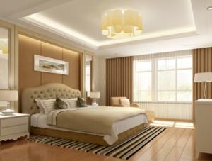唯美的都市大户型卧室背景墙装修效果图