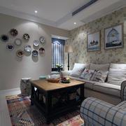 欧式现代3居复式楼客厅吊顶装修效果图