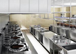 大型饭店现代简约风格商用厨房装修效果图