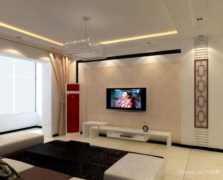 唯美的大户型欧式电视背景墙装修效果图