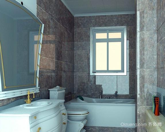跃层欧式简约风格浴缸装修效果图