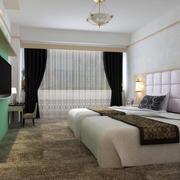 70平米欧式风格酒店客房装修效果图