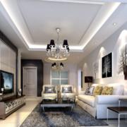 现代欧式大户型客厅装修效果图鉴赏