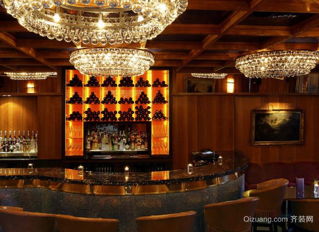 100平米美式简约风格酒吧吧台装饰