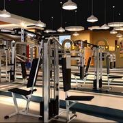 健身房简约风格灯饰设计
