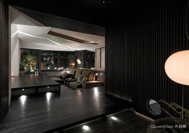 深色线条优美现代别墅家装效果图片大全