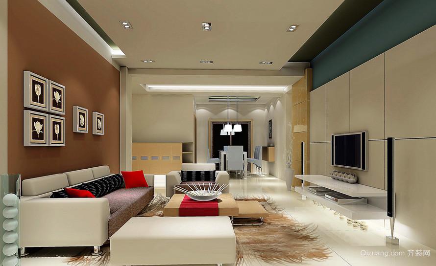 摩登大户型婚房客厅装修设计效果图欣赏