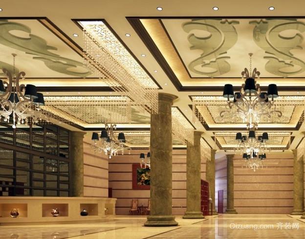欧式风格奢华宾馆大厅装修效果图设计