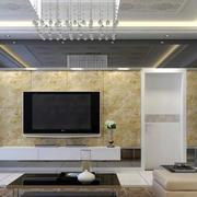 三居室大气风格客厅吊顶装修效果图