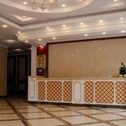 欧式简约风格宾馆大厅柜台装修效果图