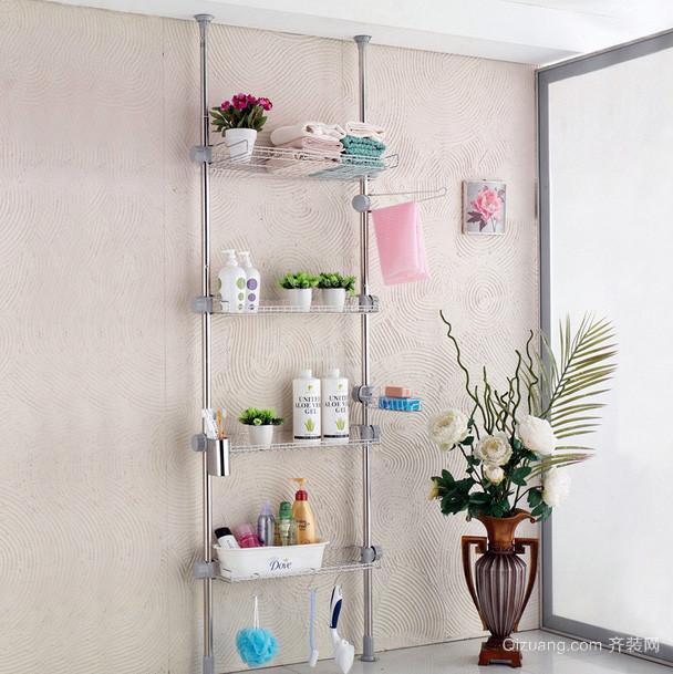 都市公寓浴室不锈钢置物架装修效果图