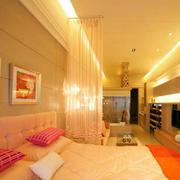 小户型简约粉色系卧室装饰