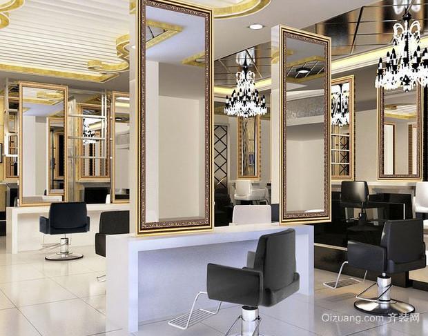 70平米现代简约风格理发店装修效果图