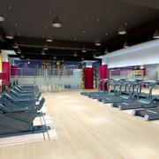 健身房简约风格地板装饰