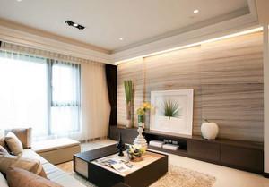 温馨浅色120平米三室两厅两卫装修效果图