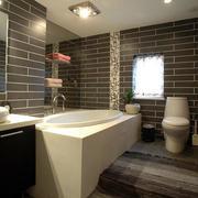 复式楼后现代风格黑白色卫生间装修效果图