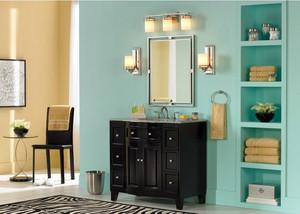 后现代风格大户型浴室置物架装修效果图