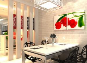 精致的欧式大户型餐厅背景墙装修效果图