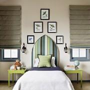 韩式清新风格80平米房屋卧室装饰