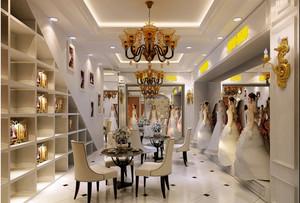欧式豪华婚纱影楼橱窗模特设计效果图