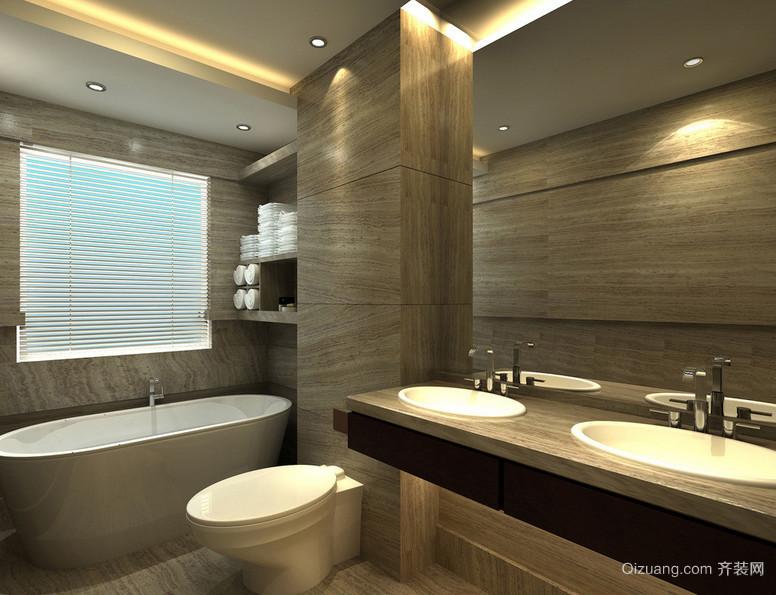 迷你宜家家居小型洗手间装修效果图