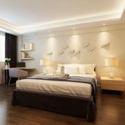 精致的都市大户型卧室背景墙装修效果图