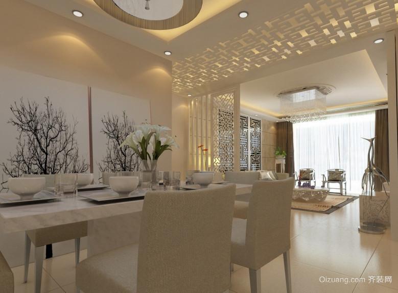 精美的大户型欧式餐厅背景墙装修效果图
