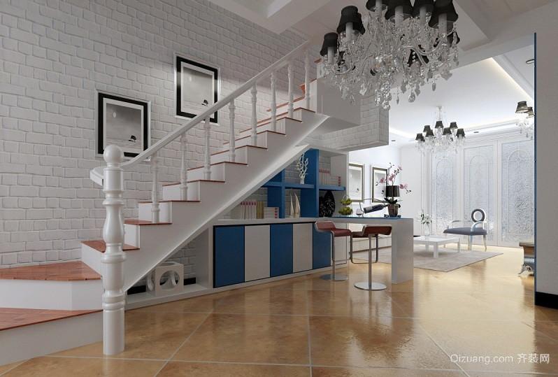 简约复式楼家居收纳楼梯装修效果图