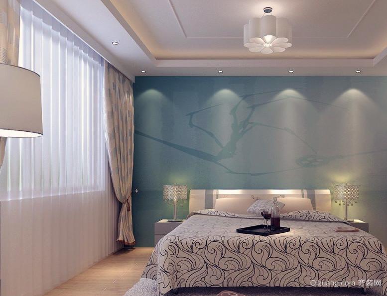 精装大户型欧式卧室床头背景墙装修效果图