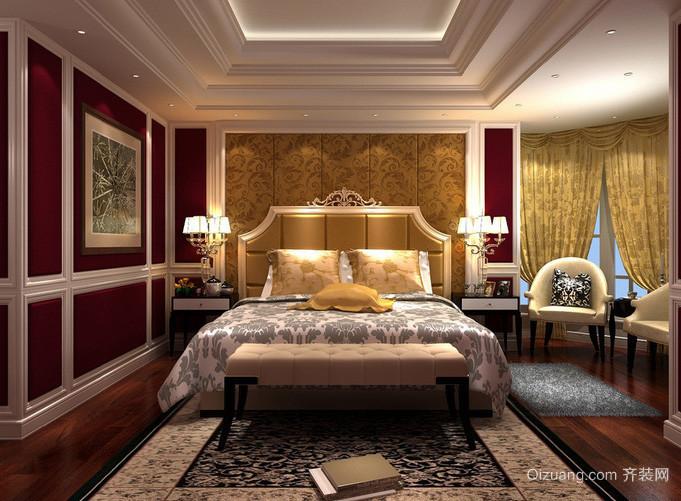 复式楼田园风格卧室装修效果图
