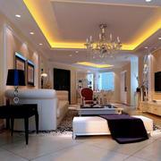 别墅精致型客厅装修效果图