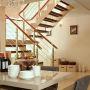 复式楼简约风格客厅楼梯装修效果图
