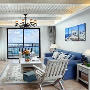 地中海简约风格客厅阳台推拉门装饰