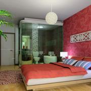 跃层自然风格卧室装修效果图