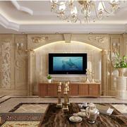 欧式豪华大户型客厅电视组合柜装修效果图