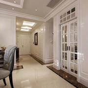 韩式清新白色系客厅过道吊顶装修效果图