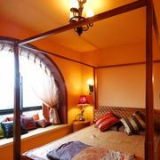 简约暖色系东南亚拱形飘窗装饰