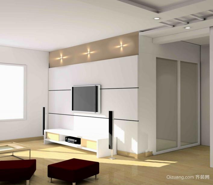 精致的欧式大户型电视背景墙装修效果图