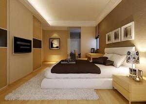 韩式温馨大户型家居卧室地毯装修效果图