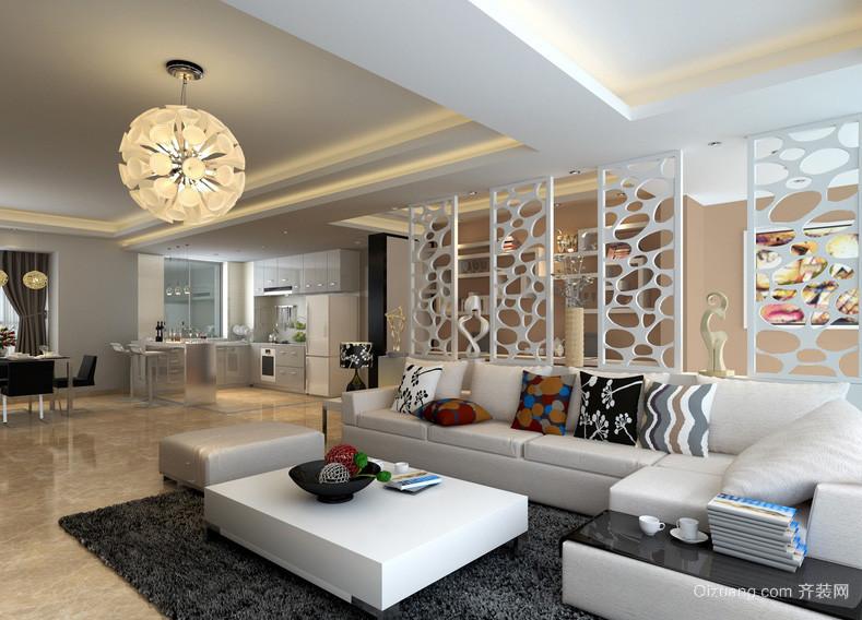 200平米现代家装客厅隔断背景装修效果图