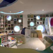 小户型新颖儿童书店装修设计效果图