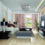 现代大户型欧式客厅装修效果图