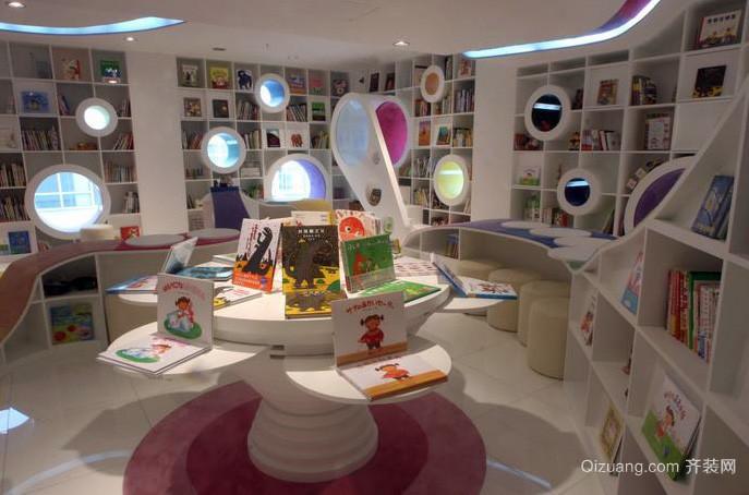 现代前卫小户型儿童书店设计效果图