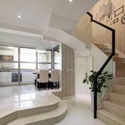 小洋楼简欧风格客厅楼梯装修效果图