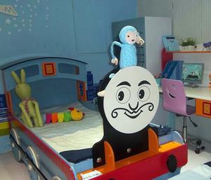 现代简约创意男生儿童床装修效果图