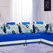 宝蓝色优雅气质客厅沙发装饰